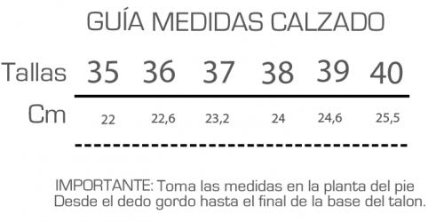 GUIA MEDIDAS CALZADO